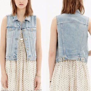 Madewell Jean Jacket Vest Size Small